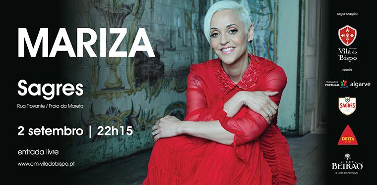 Mariza - Concerto em Sagres, dia 2 de setembro | 22h15