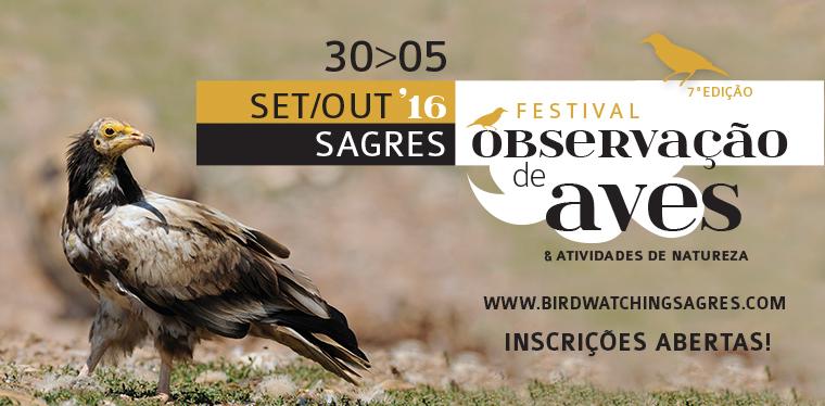 Festival de Observação de Aves e Atividades de Natureza  - Inscrições abertas