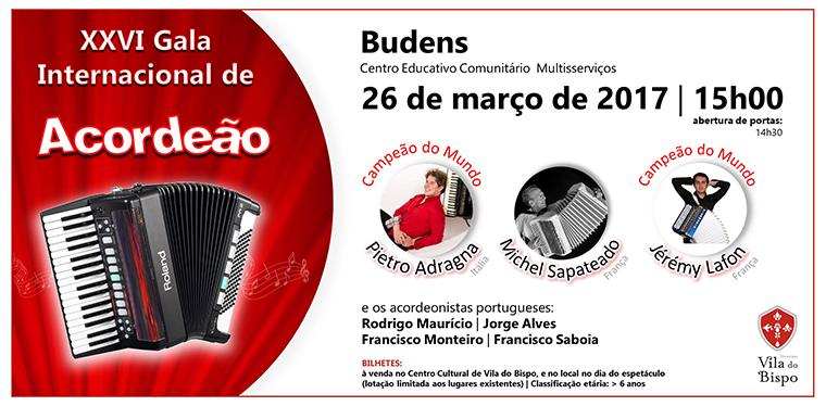 XXVI Gala Internacional de Acordeão -  Centro Educativo Comunitário Multisserviços de Budens