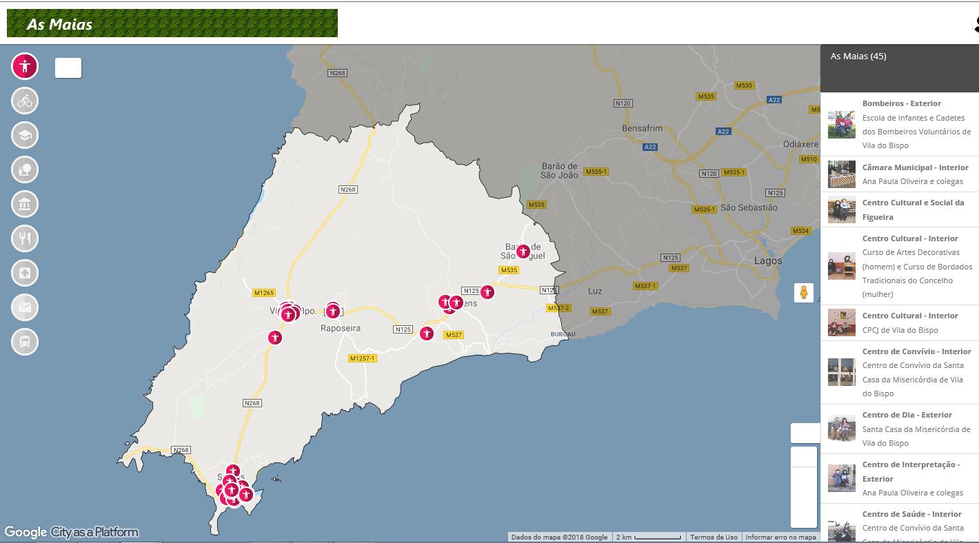Site Autarquico Vila Do Bispovila Do Bispo Tem Um Mapa Interativo Para Leva Lo Ate As Maias